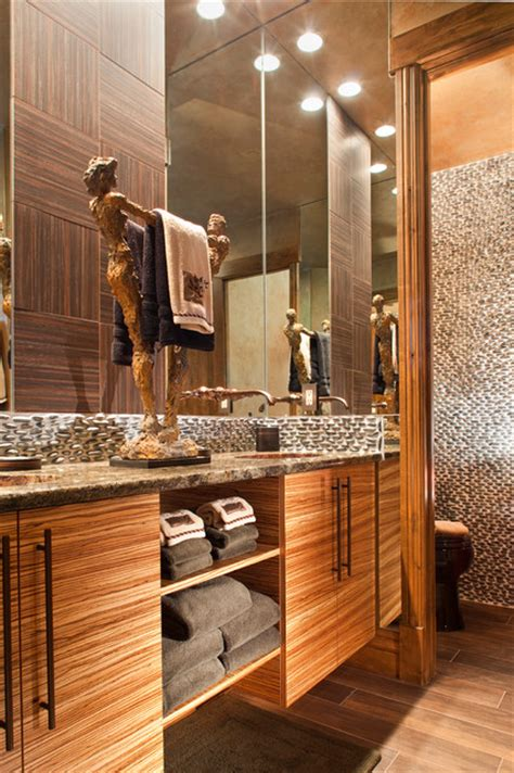 Mountain Home Bathroom Design Rustic Modern Mountain Home