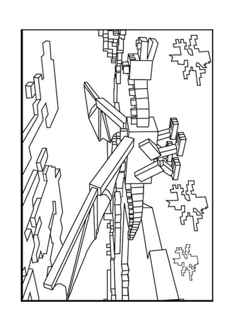 minecraft enderman coloring page birthday ideas