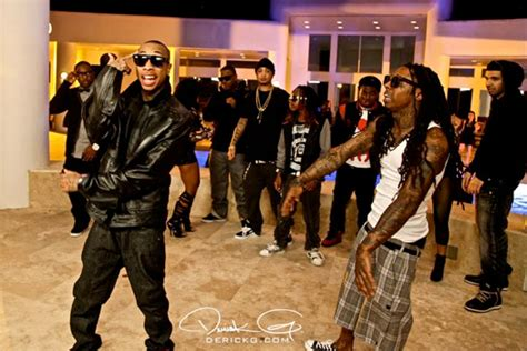 bed rock young money pictures lil wayne on the set for young money s bed rock