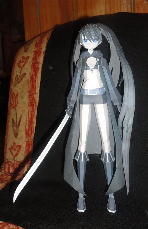Black Rock Shooter Papercraft - black rock shooter papercraft by azby on deviantart