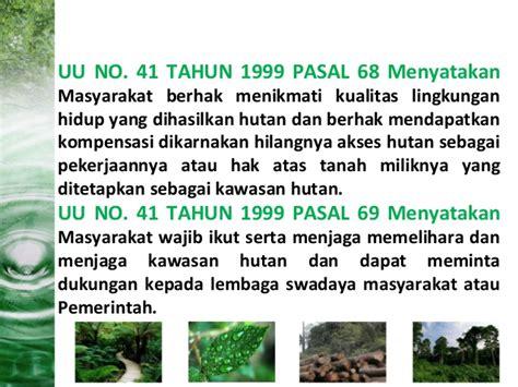 Undang Undang Kehutanan Dan Illegal Logging illegal logging