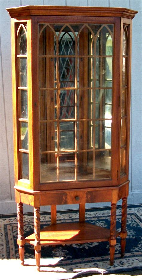 antique corner china cabinet rare antique victorian carved walnut display corner china
