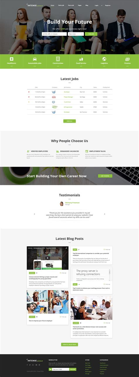 responsive website templates for quiz employment responsive web template