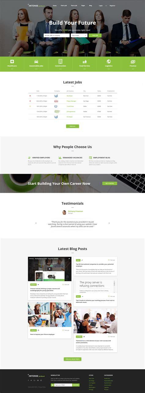 website templates for job site employment responsive web template