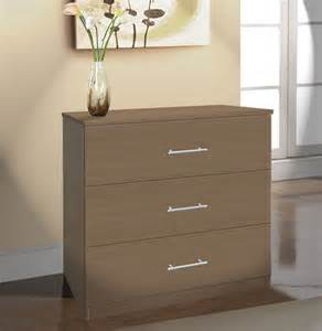 modern 3 drawer dresser small chest of drawers contempo space