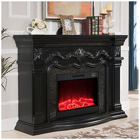 view 62 quot grand black electric fireplace deals at big lots