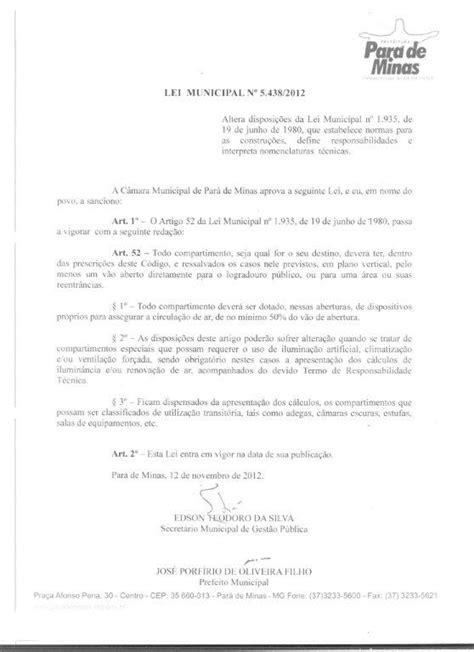 Legislação – Prefeitura de Pará de Minas