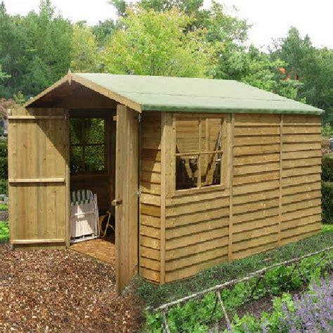 Elbec Garden Sheds by Shire Overlap Apex Garden Shed With Doors 10 X 7 Elbec Garden Buildings