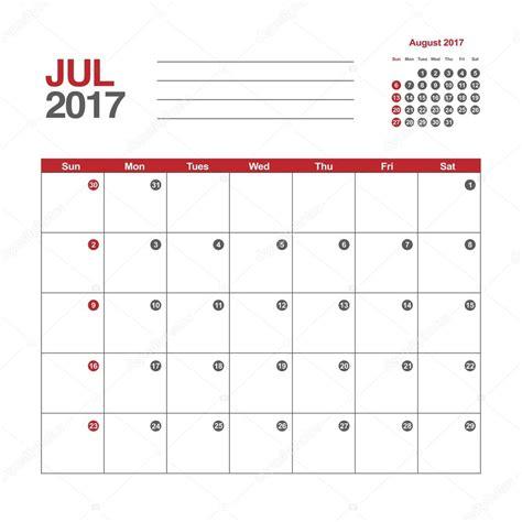 calendar planner july 2017 stock vector illustration of calendar july 2017 template stock vector 169 esbeauda