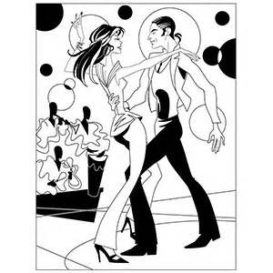 Ballroom Dancer Coloring Pages sketch template