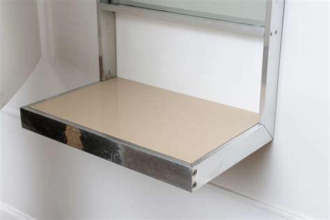 mid century modern wall mounted shelves shelves mid century modern steel wall mount mirror with shelf at