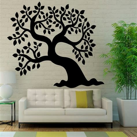 tree silhouette wall sticker silhouette tree wall decal promotion shop for promotional