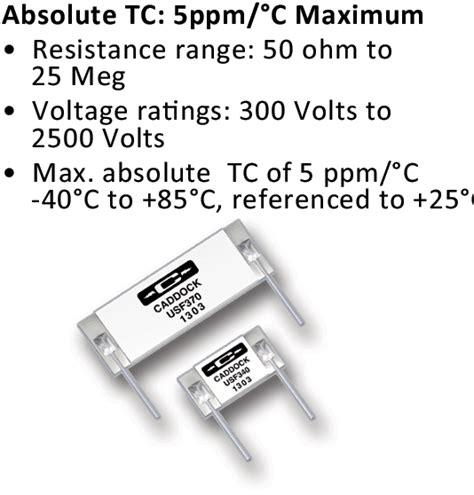 precision resistor voltage divider precision resistor divider network 28 images caddock s