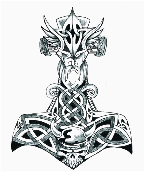thor s hammer tattoo designs mjolnir 10 png 1342 215 1600 for