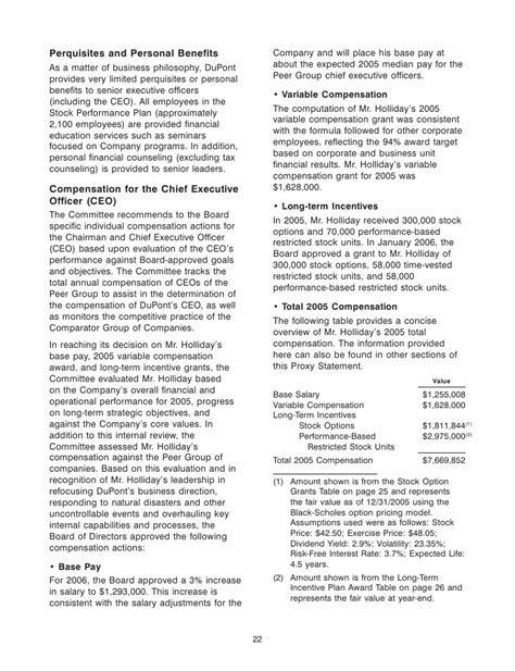 section 162 m of the internal revenue code du pont 2006 annual meeting proxy statement
