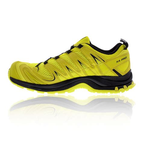 waterproof sport shoes salomon xa pro 3d trail mens yellow waterproof walking