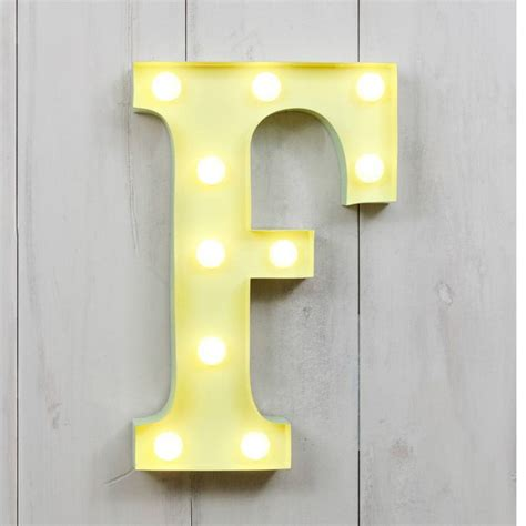 vegas metal led circus letter light f by all things