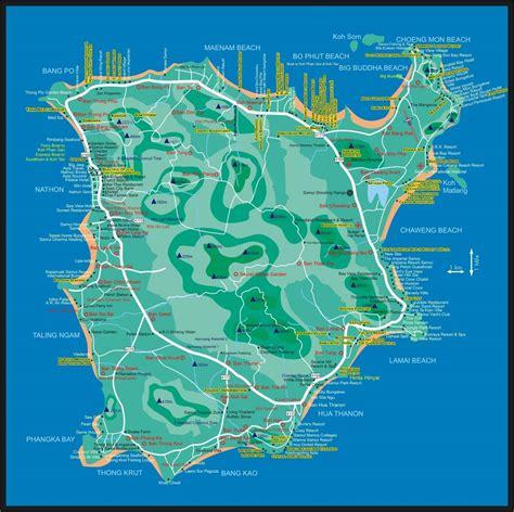 printable map koh samui large ko samui maps for free download and print high