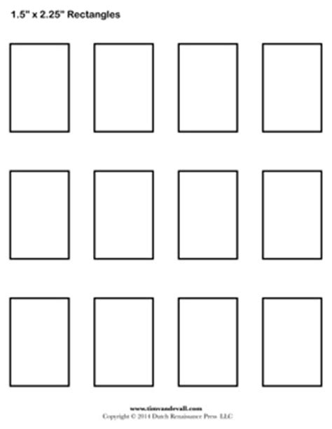 Printable Letter Stencils Rectangle Templates Blank Shape Templates Free