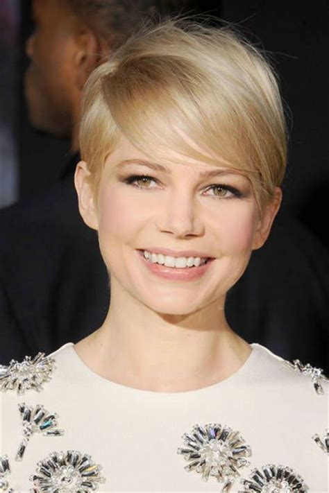 famous actress with short hair michelle williams blonde hair best blonde hairstyles