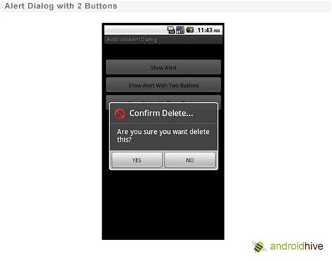 Android Yes No Dialog by How To Show Alert Dialog In Android