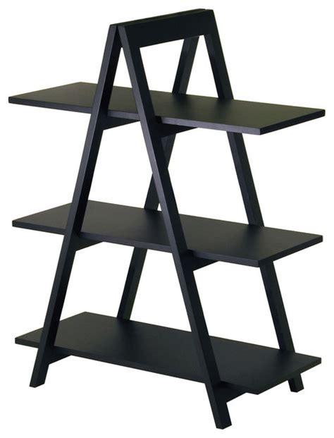 a frame 3 tier shelf modern display and wall shelves