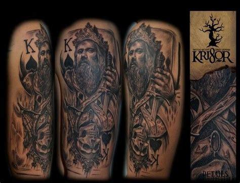 tattoo king queen cards king card tattoos pinterest