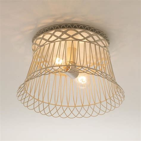 wire ceiling light vintage wire basket ceiling light flush mount ceiling