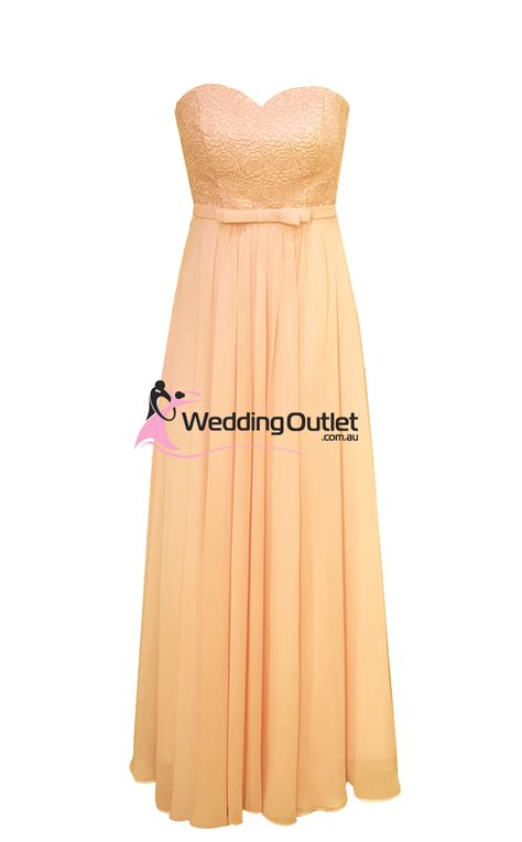 apricot color dress apricot strapless bridesmaid dresses style an101