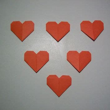 Mini Origami Hearts - shop engagement ornament on wanelo