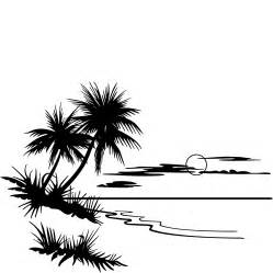 Sunset Drawing Outline by Mountain Sunset Black And White Clipart