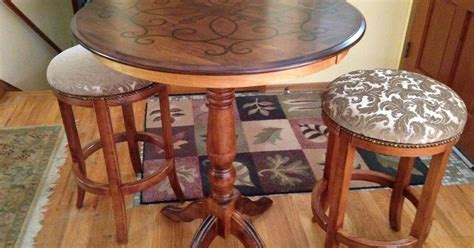Outdoor Furniture Yard Sale Yard Sale Pub Table And Stools Makeover Hometalk