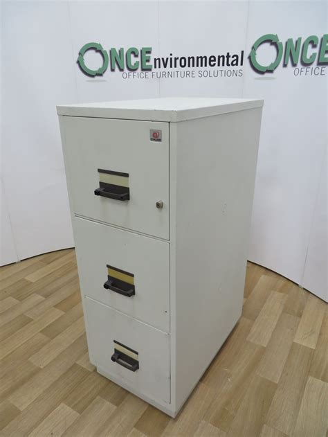 used 3 drawer fireproof file cabinet used office storage chubb fireproof 3 drawer filing