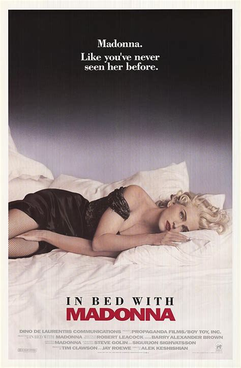 In Bed With by In Bed With Madonna Aka Or Posters At