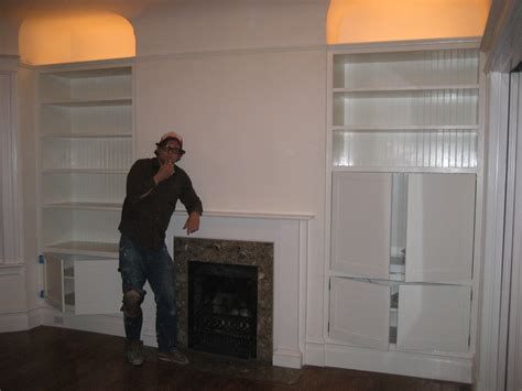built in shelves with fireplace bt country times