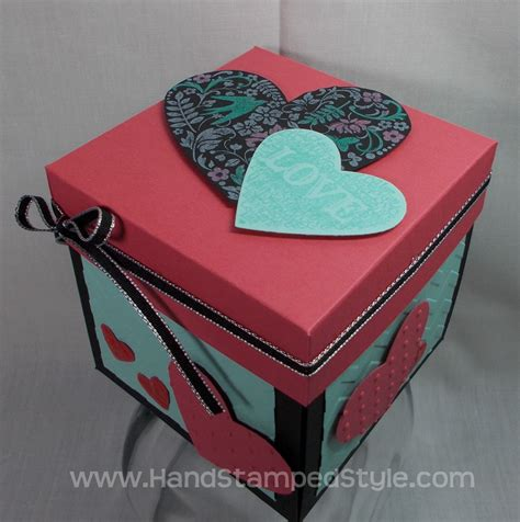 explosion box full tutorial explosion box card valentine explosion box tutorial