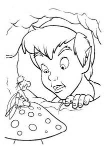 pan coloring disney pan and tinkerbell coloring page color