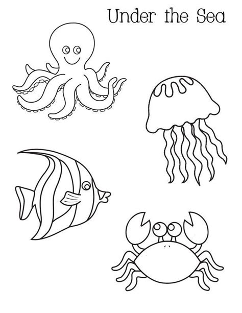 fish coloring pages games ocean activities free under the sea coloring pages