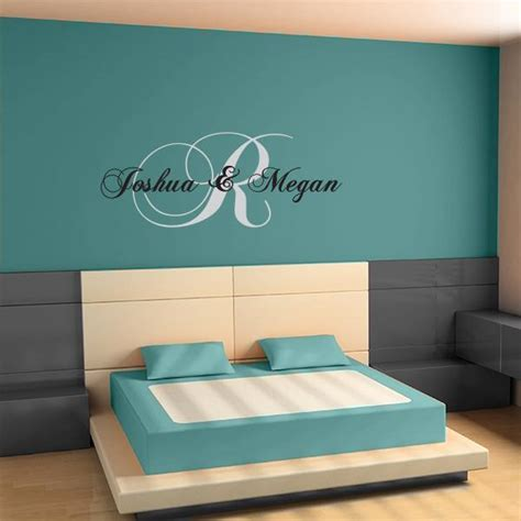 adult bedroom wall stickers initial wall decal couples wall decal wall name stickers