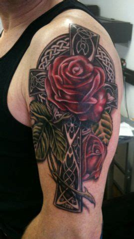 what can i add to my rose tattoo celtic crosses celtic and crosses on