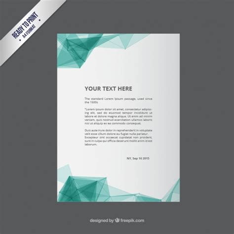 flyer template with abstract polygons vector premium