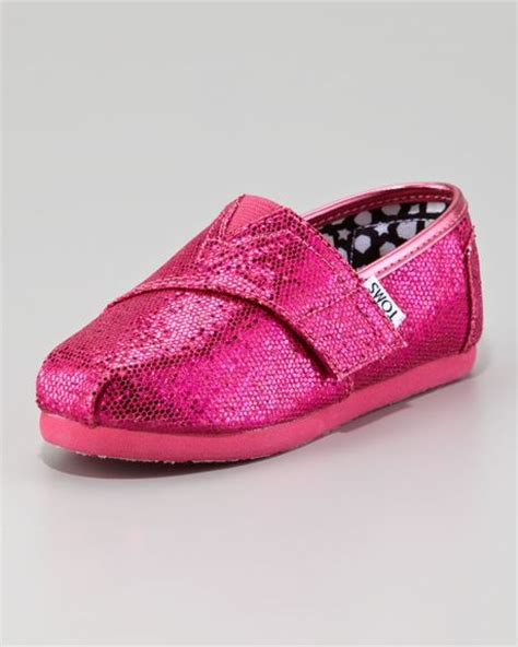 toms pink glitter shoe tiny in pink pink lyst