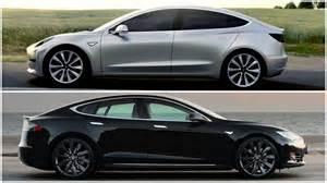 Tesla Vs 2016 Tesla Model 3 Vs Tesla Model S