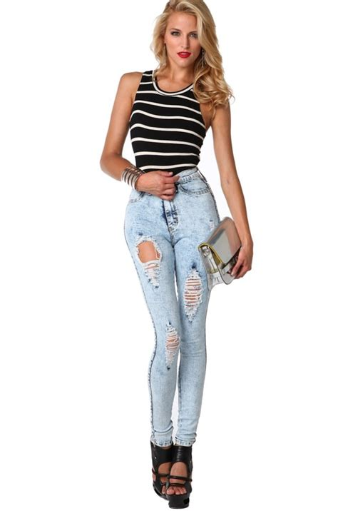 Combo Ripped Highwaist high waisted distressed bbg clothing