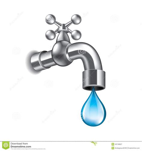 Water Faucet Vector by Water Faucet On White Vector Stock Vector Image 49749827