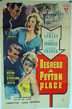 libro retour peyton place pel 237 cula regreso a peyton place 1961 return to peyton