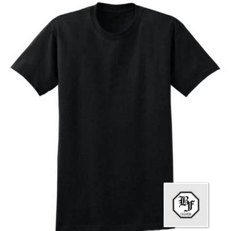 Kaos Baju T Shirt Oblong Black kaos polos hitam cotton combed 30s kaos oblong pria