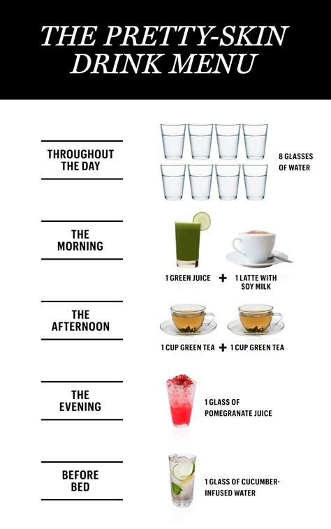 24 Hour Detox Drink by A 24 Hour Drink Menu For The Prettiest Skin Of Your