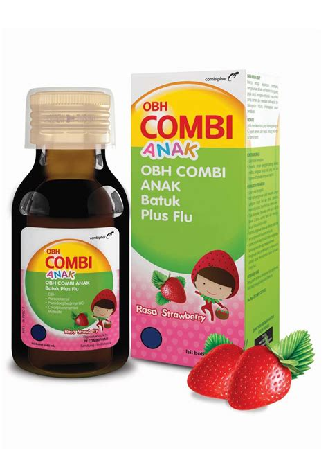 Woods Sirup Obat Batuk 60ml by Obh Combi Sirup Obat Batuk Plus Flu Anak Strawberry Btl