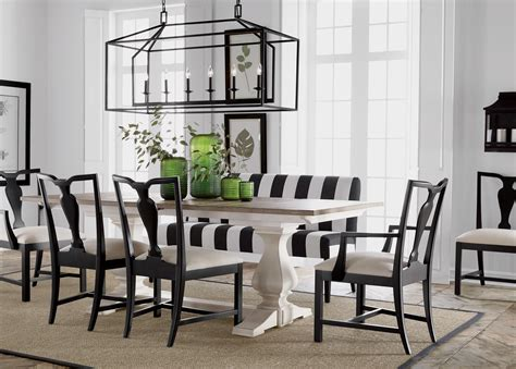 White And Black Dining Room Table Back To Black And White Dining Room Ethan Allen